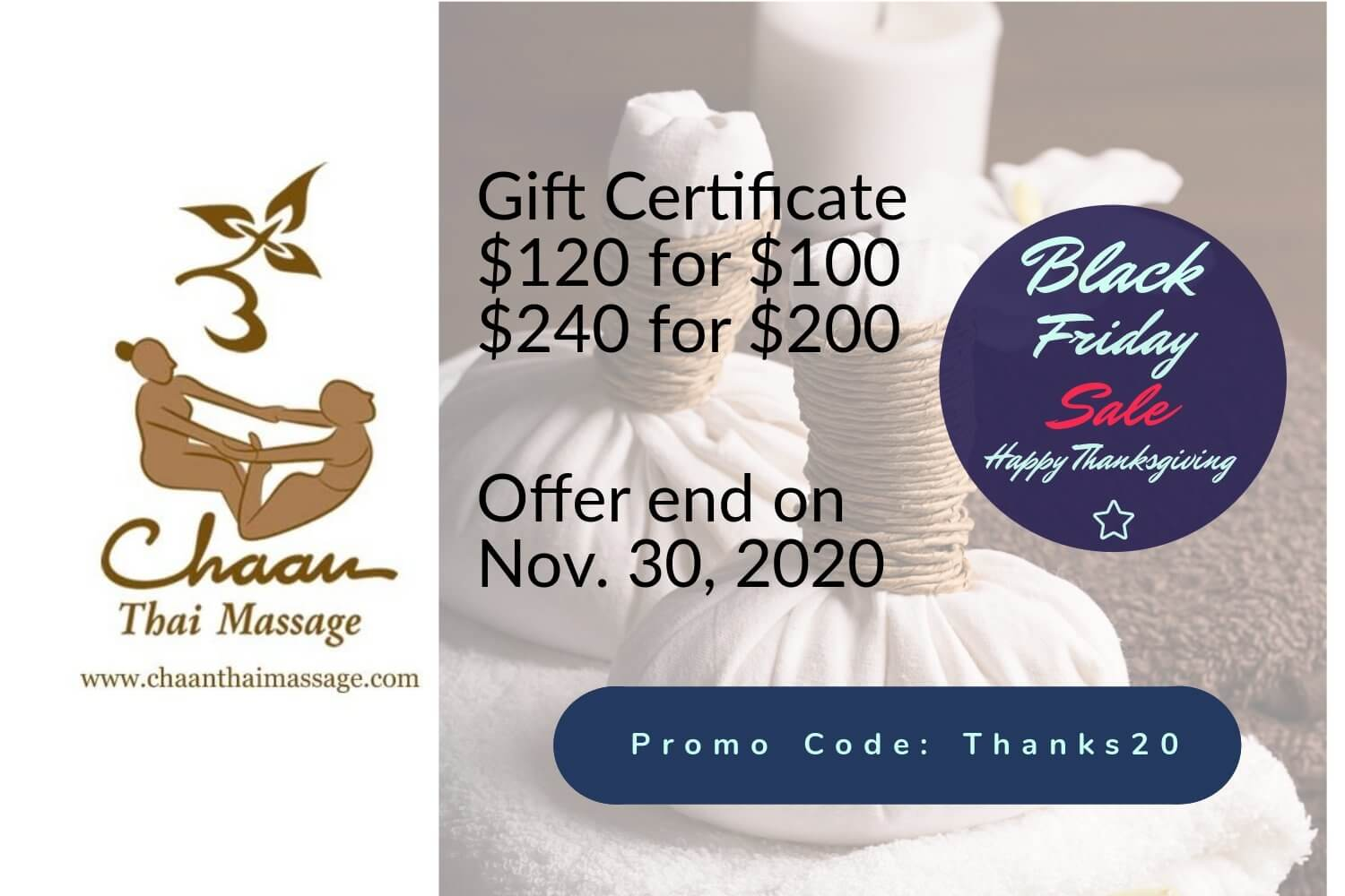 Gift card Black friday Promotion